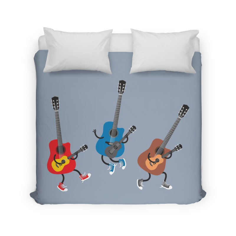 Dancing guitars Home Duvet by shiningstar's Artist Shop