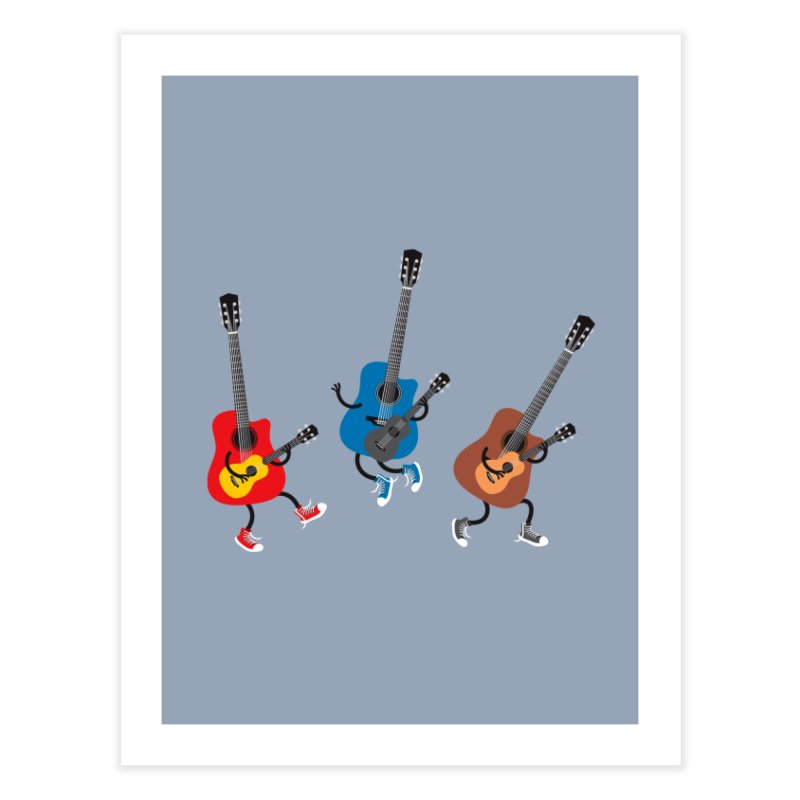Dancing guitars Home Fine Art Print by shiningstar's Artist Shop