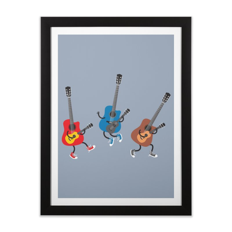 Dancing guitars Home Framed Fine Art Print by shiningstar's Artist Shop