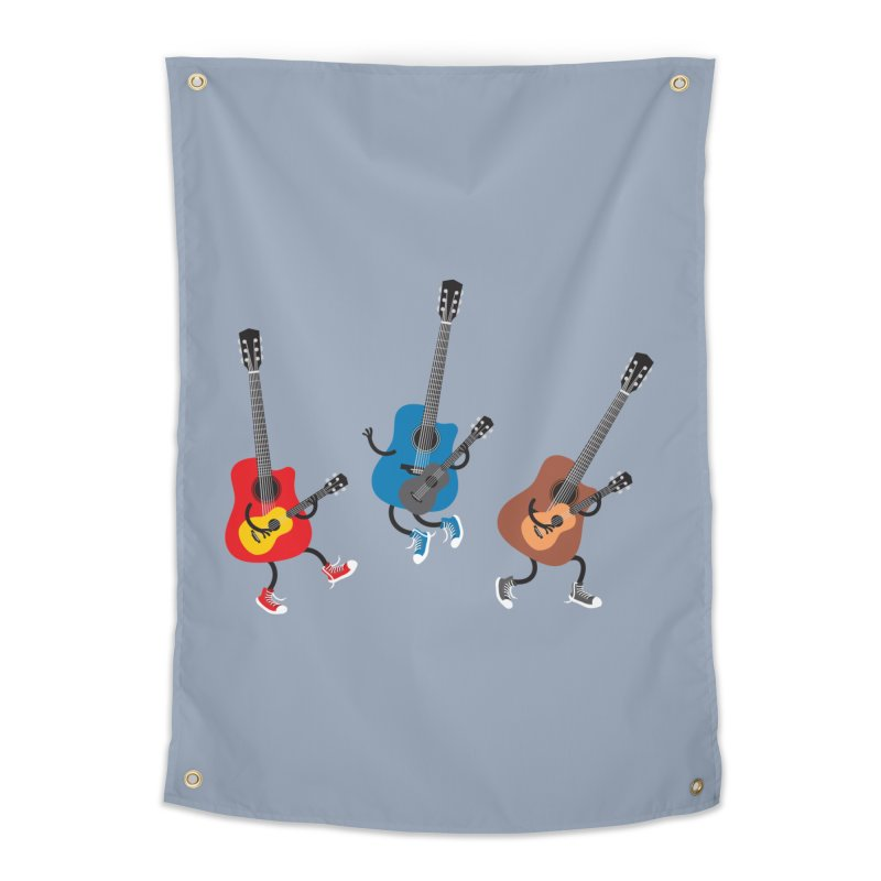 Dancing guitars Home Tapestry by shiningstar's Artist Shop