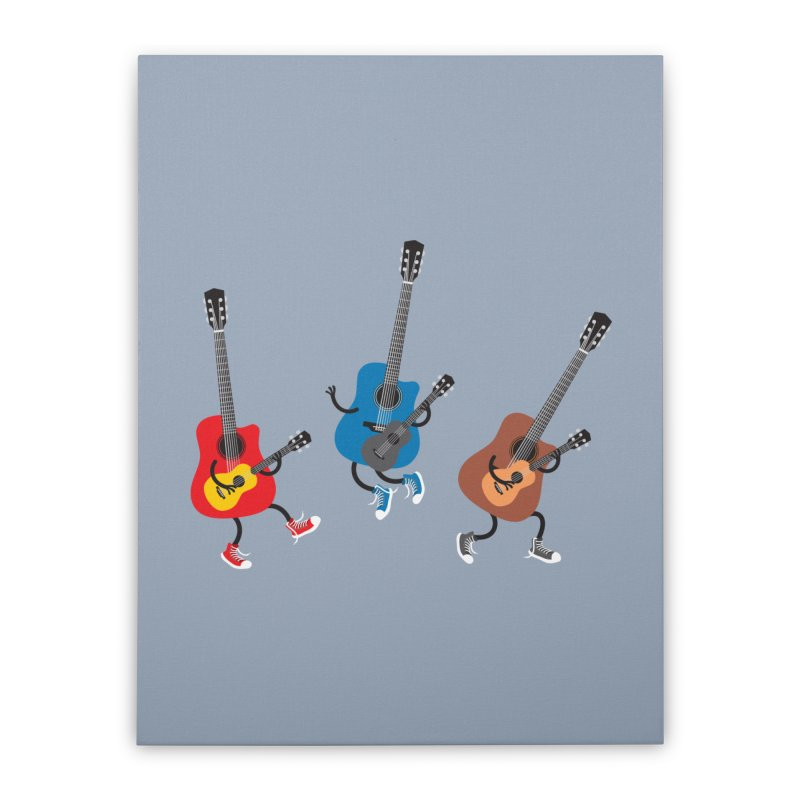 Dancing guitars Home Stretched Canvas by shiningstar's Artist Shop