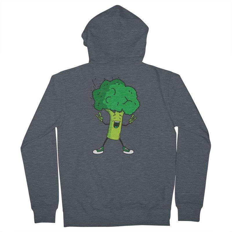 Broccoli rocks! Men's Zip-Up Hoody by shiningstar's Artist Shop