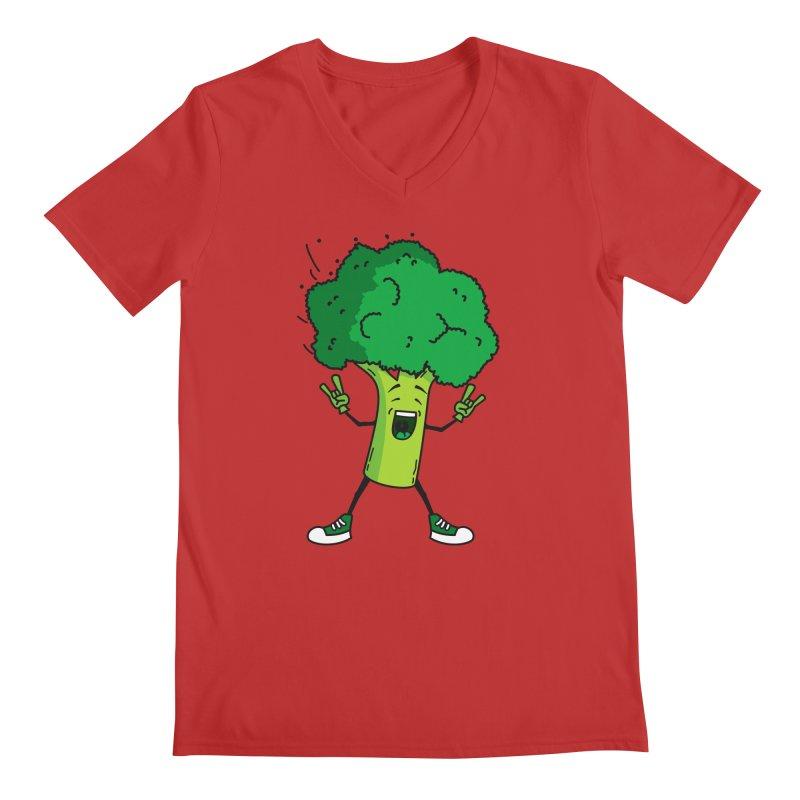 Broccoli rocks! Men's V-Neck by shiningstar's Artist Shop