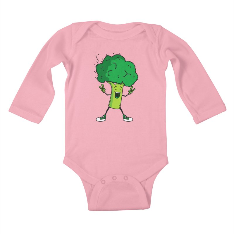 Broccoli rocks! Kids Baby Longsleeve Bodysuit by shiningstar's Artist Shop