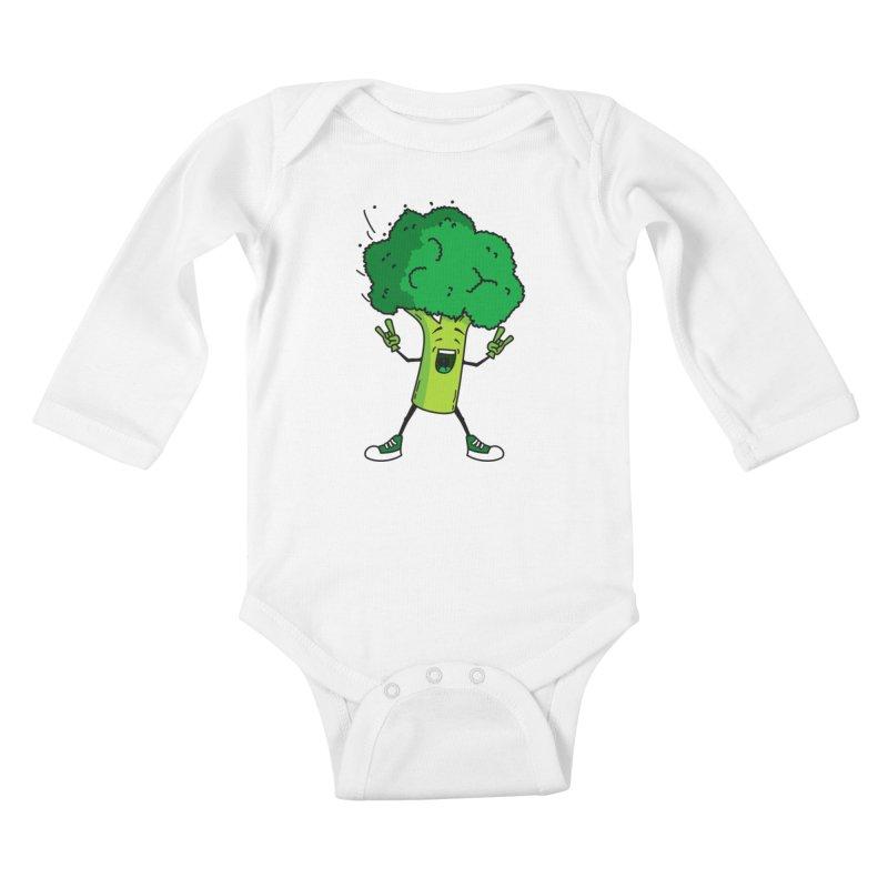 Broccoli rocks! Kids Baby Longsleeve Bodysuit by shiningstar's Artist Shop