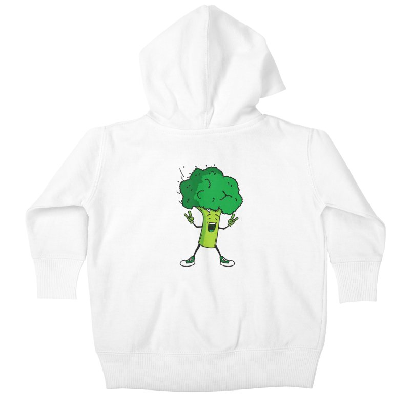 Broccoli rocks! Kids Baby Zip-Up Hoody by shiningstar's Artist Shop
