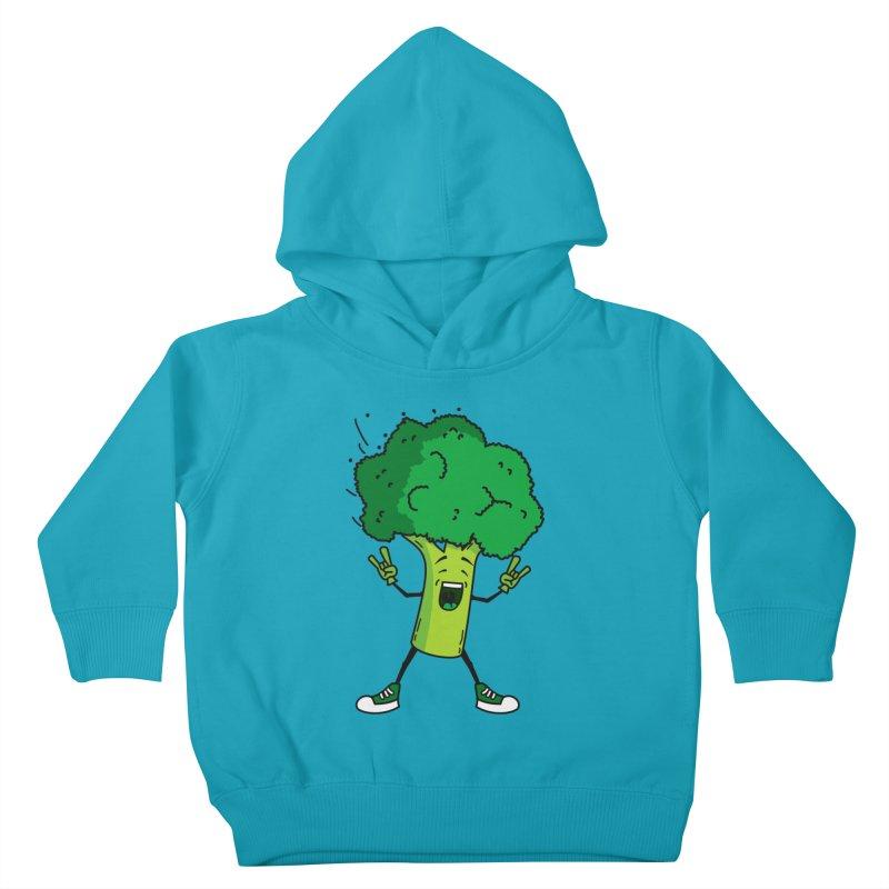 Broccoli rocks! Kids Toddler Pullover Hoody by shiningstar's Artist Shop