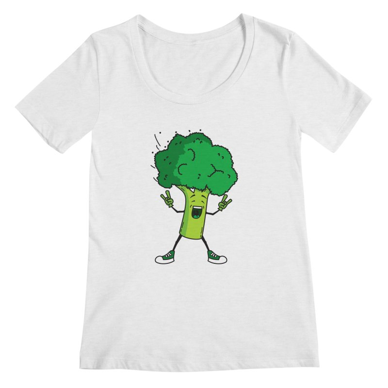 Broccoli rocks! Women's Scoopneck by shiningstar's Artist Shop