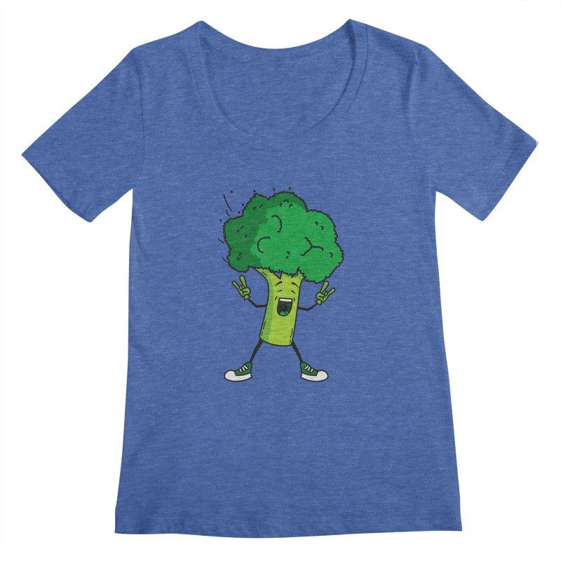 Broccoli rocks! Women's Scoopneck by shiningstar's Artist Shop