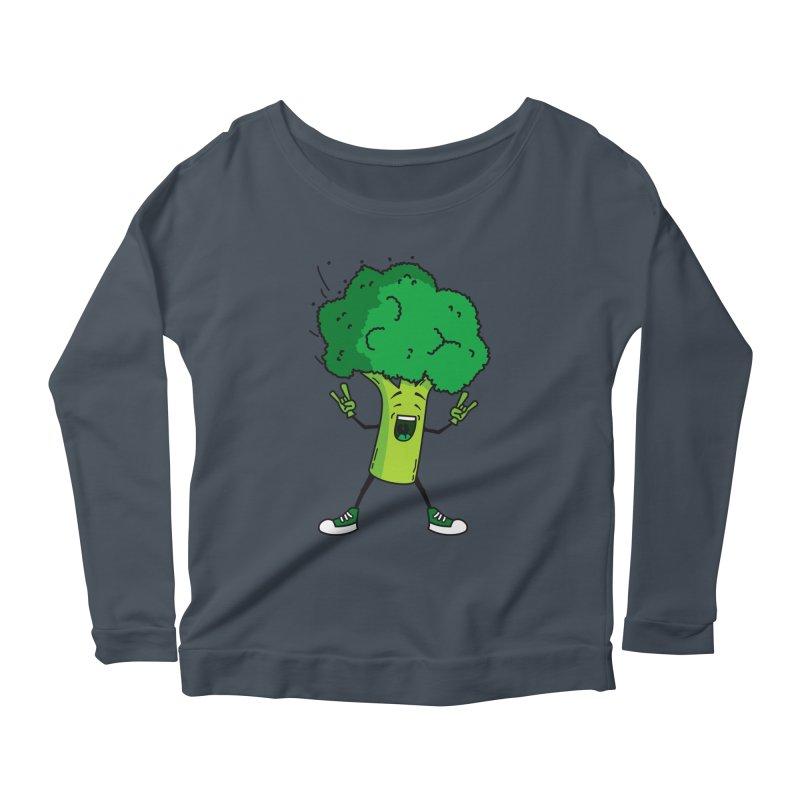 Broccoli rocks! Women's Longsleeve Scoopneck  by shiningstar's Artist Shop