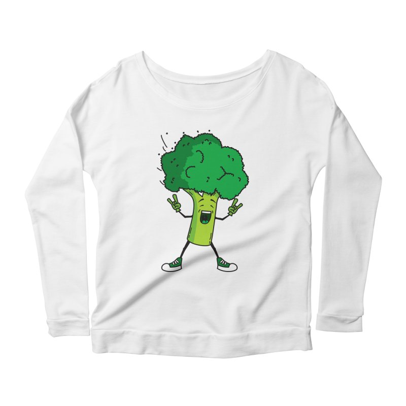 Broccoli rocks! Women's Longsleeve Scoopneck  by shiningstar's Artist Shop