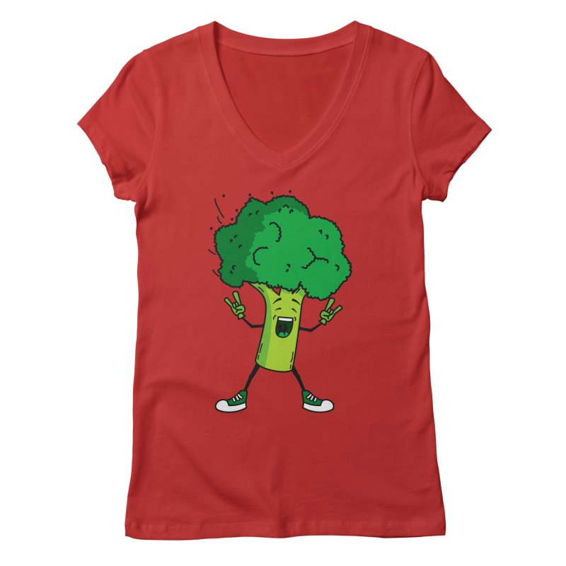 Broccoli rocks! Women's V-Neck by shiningstar's Artist Shop