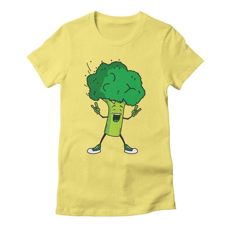 Broccoli rocks! Women's Fitted T-Shirt by shiningstar's Artist Shop