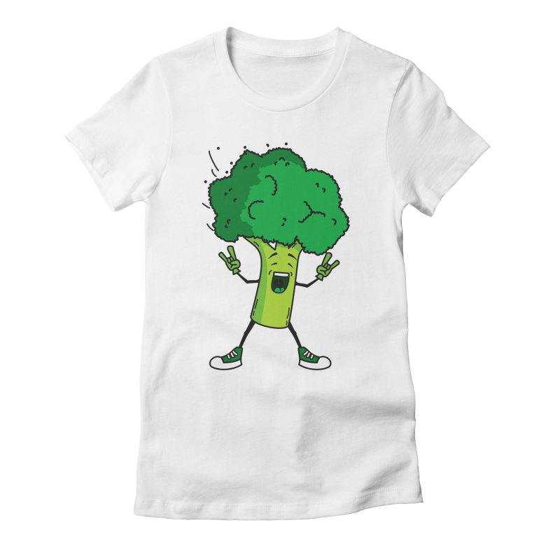 Broccoli rocks! Women's Fitted T-Shirt by shiningstar's Artist Shop