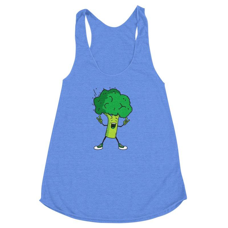 Broccoli rocks! Women's Racerback Triblend Tank by shiningstar's Artist Shop