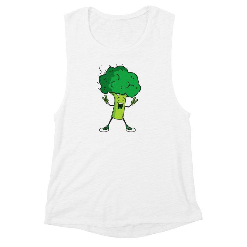 Broccoli rocks! Women's Muscle Tank by shiningstar's Artist Shop
