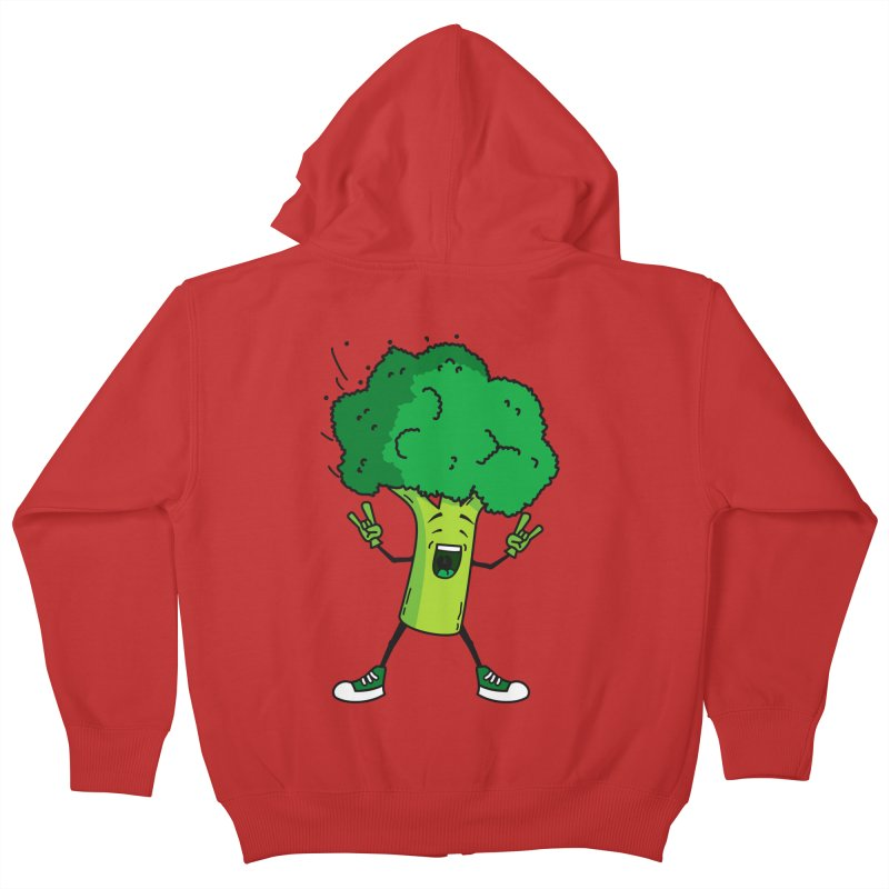 Broccoli rocks! Kids Zip-Up Hoody by shiningstar's Artist Shop