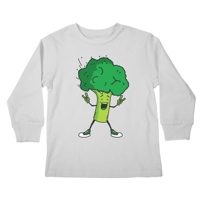 Broccoli rocks! Kids Longsleeve T-Shirt by shiningstar's Artist Shop