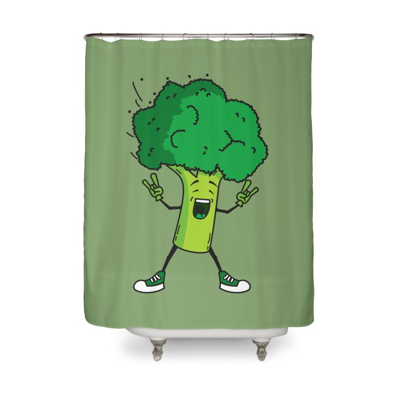 Broccoli rocks! Home Shower Curtain by shiningstar's Artist Shop