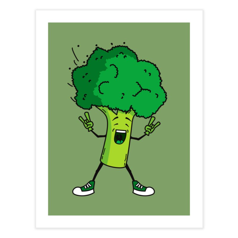 Broccoli rocks! Home Fine Art Print by shiningstar's Artist Shop