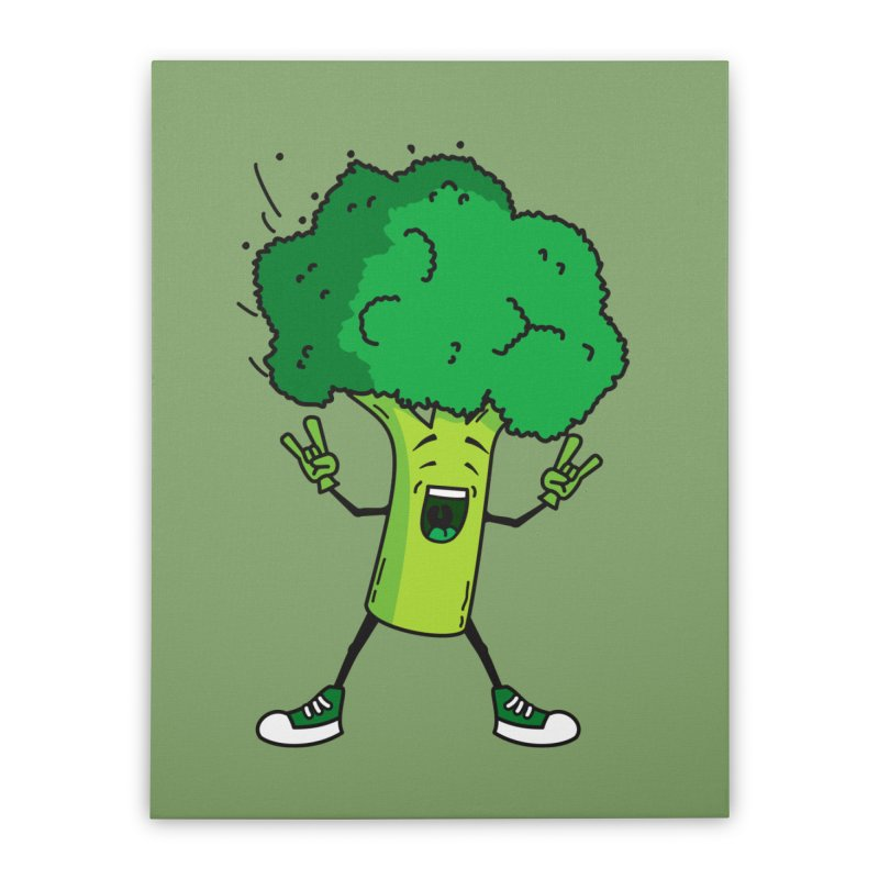 Broccoli rocks! Home Stretched Canvas by shiningstar's Artist Shop