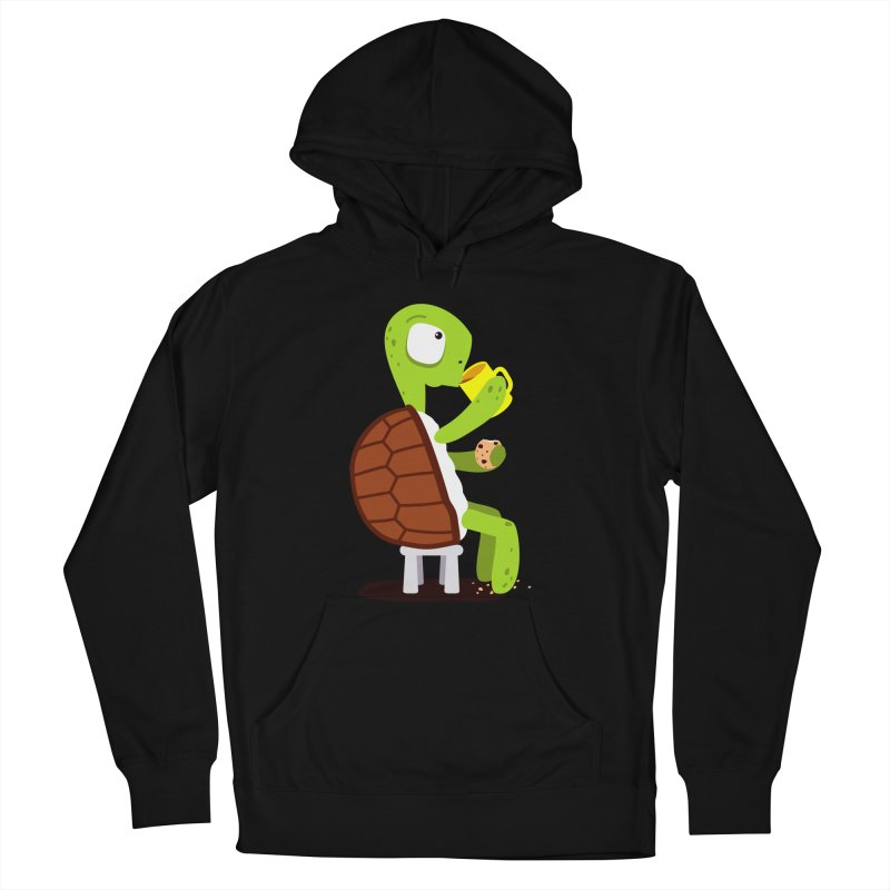 Turtle drinking tea with cookies. Women's Pullover Hoody by shiningstar's Artist Shop