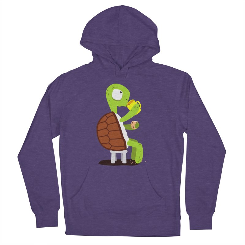 Turtle drinking tea with cookies. Men's Pullover Hoody by shiningstar's Artist Shop