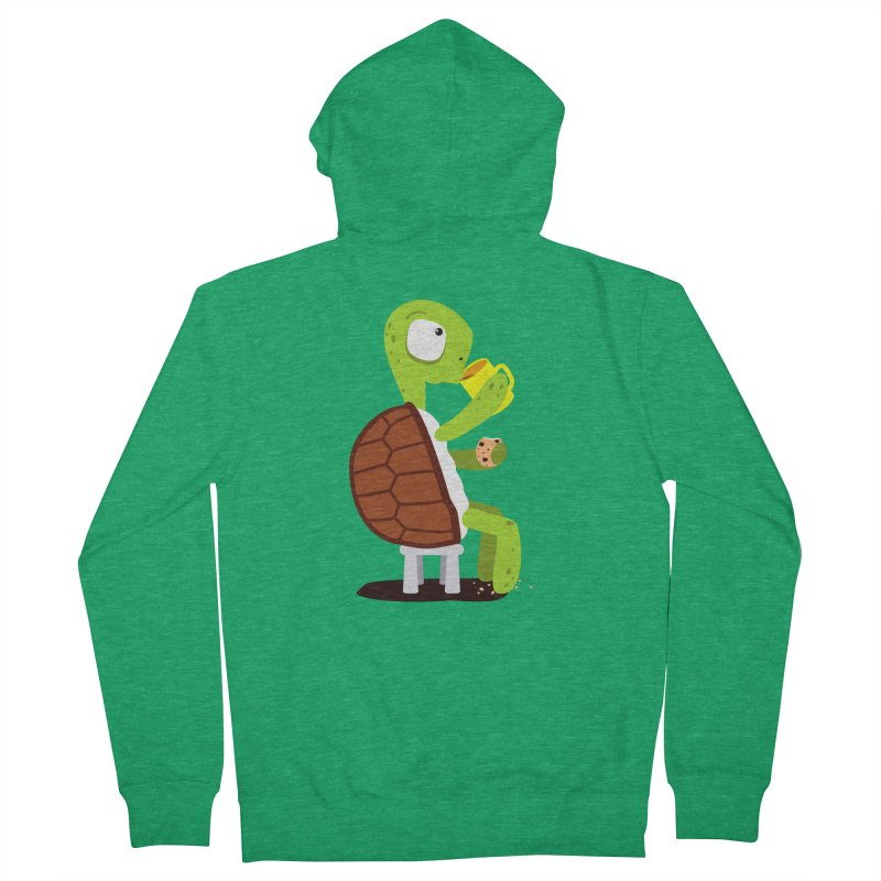 Turtle drinking tea with cookies. Men's Zip-Up Hoody by shiningstar's Artist Shop