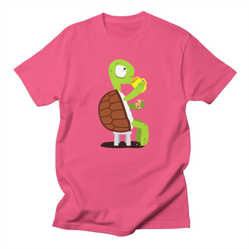 Turtle drinking tea with cookies. Men's T-shirt by shiningstar's Artist Shop