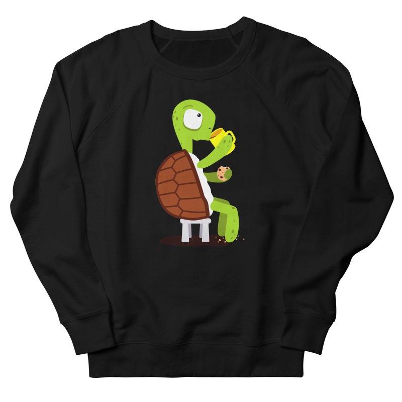 Turtle drinking tea with cookies. Men's Sweatshirt by shiningstar's Artist Shop