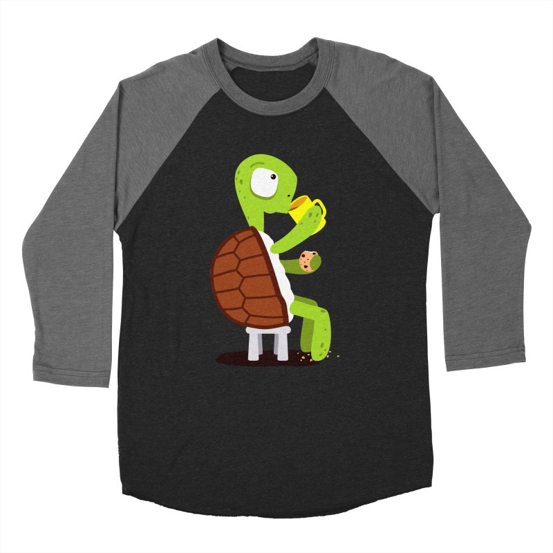 Turtle drinking tea with cookies. Women's Baseball Triblend T-Shirt by shiningstar's Artist Shop
