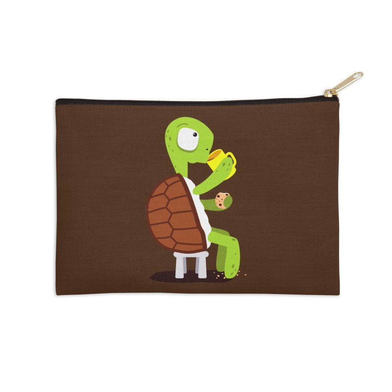 Turtle drinking tea with cookies. Accessories Zip Pouch by shiningstar's Artist Shop