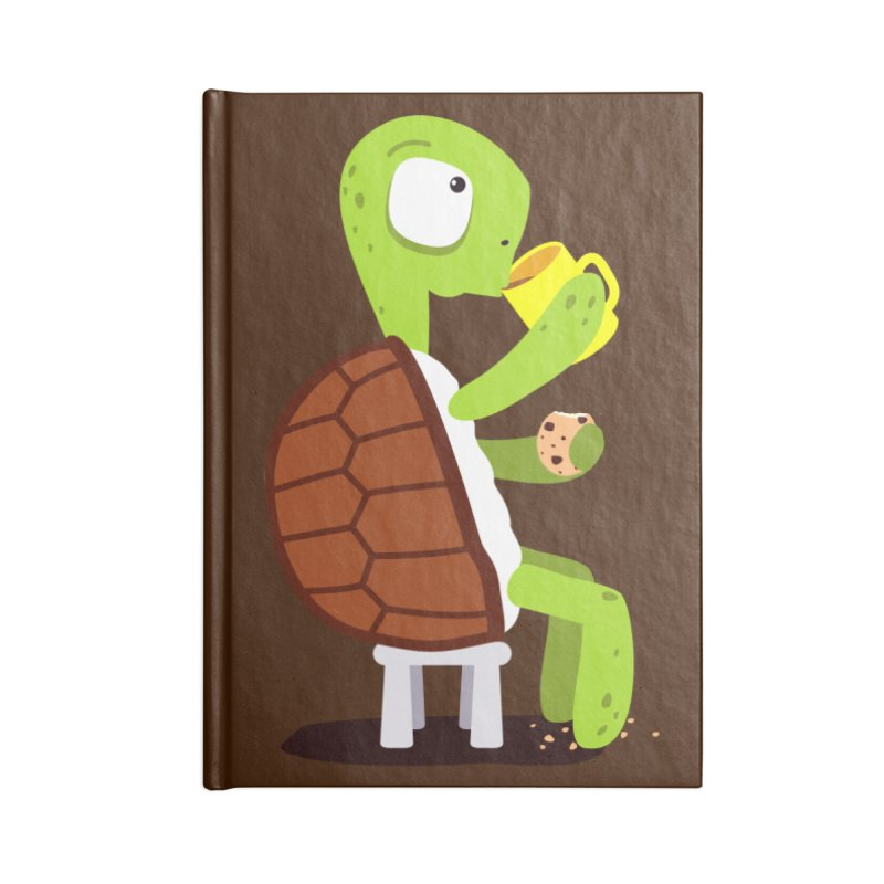 Turtle drinking tea with cookies. Accessories Notebook by shiningstar's Artist Shop