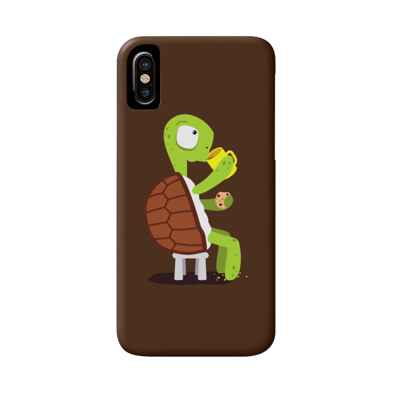 Turtle drinking tea with cookies. Accessories Phone Case by shiningstar's Artist Shop