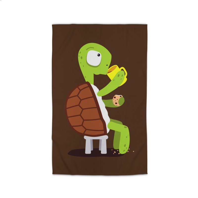 Turtle drinking tea with cookies. Home Rug by shiningstar's Artist Shop