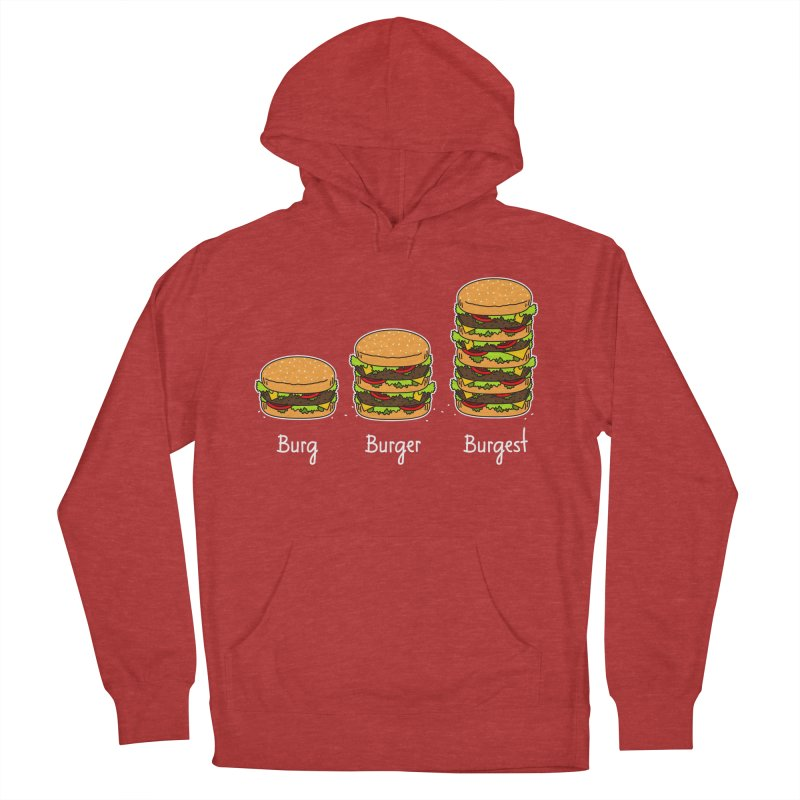 Burger explained. Burg. Burger. Burgest. Women's Pullover Hoody by shiningstar's Artist Shop