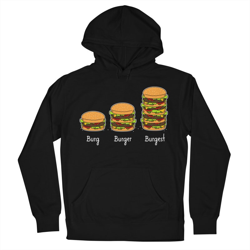 Burger explained. Burg. Burger. Burgest. Women's Pullover Hoody by shiningstar's Artist Shop