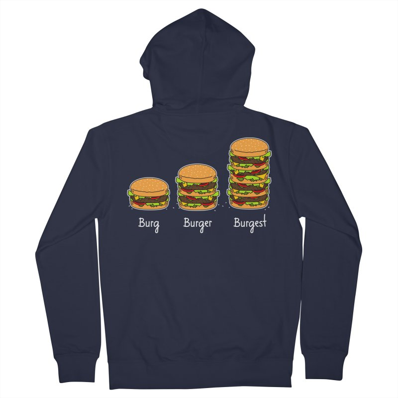 Burger explained. Burg. Burger. Burgest. Women's Zip-Up Hoody by shiningstar's Artist Shop