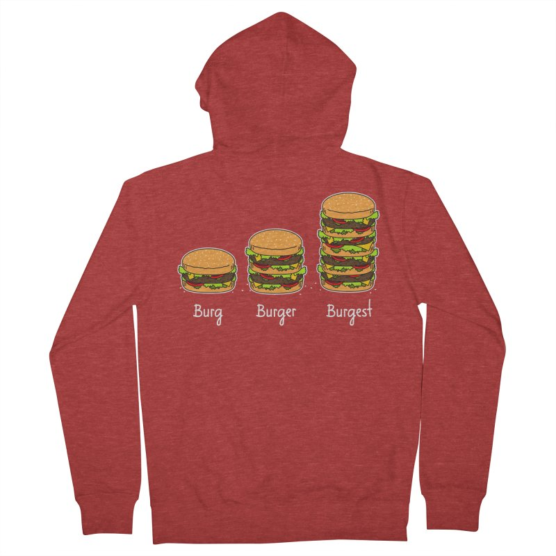 Burger explained. Burg. Burger. Burgest. Men's Zip-Up Hoody by shiningstar's Artist Shop