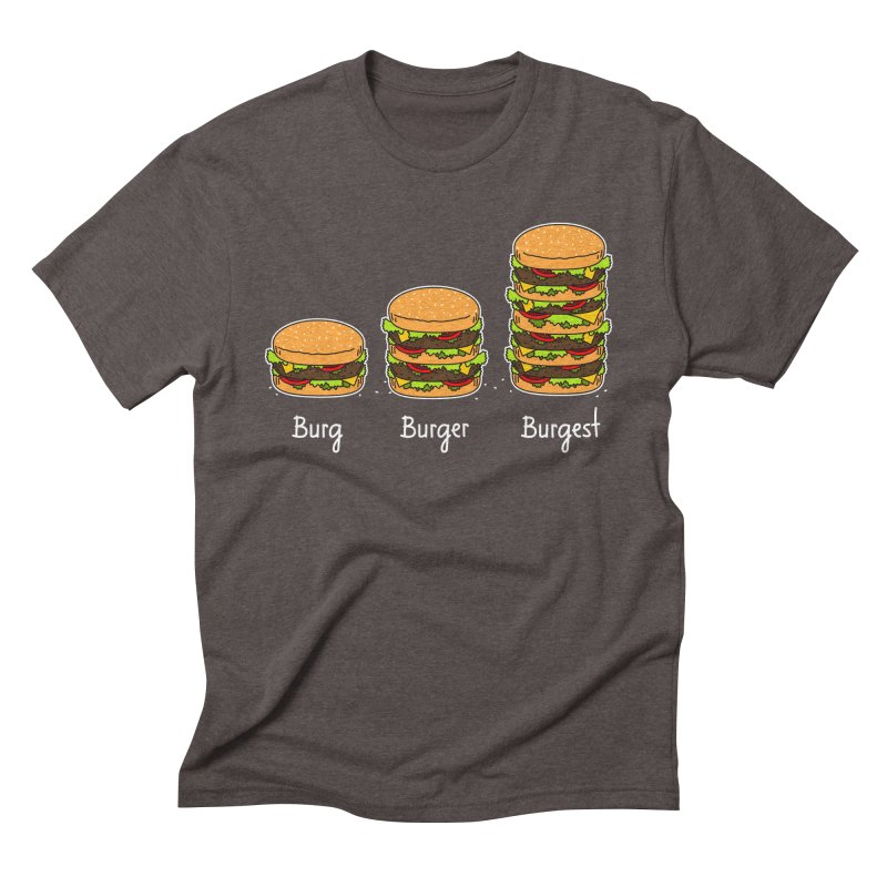 Burger explained. Burg. Burger. Burgest. Men's Triblend T-shirt by shiningstar's Artist Shop