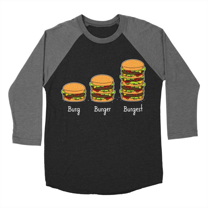 Burger explained. Burg. Burger. Burgest. Women's Baseball Triblend T-Shirt by shiningstar's Artist Shop