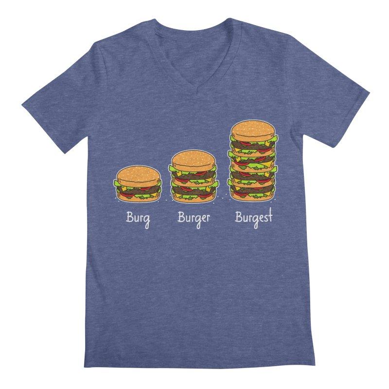 Burger explained. Burg. Burger. Burgest. Men's V-Neck by shiningstar's Artist Shop