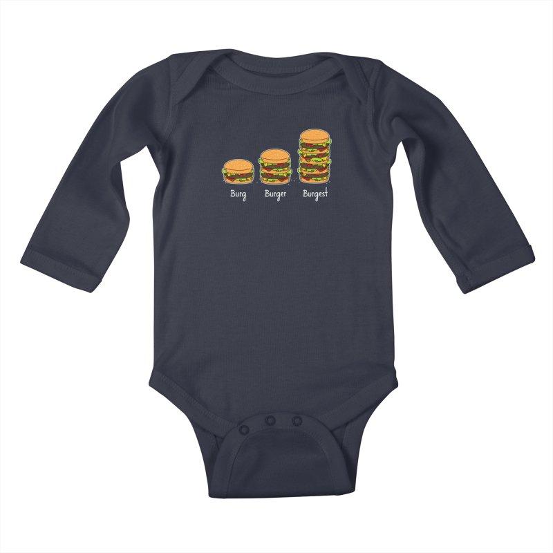Burger explained. Burg. Burger. Burgest. Kids Baby Longsleeve Bodysuit by shiningstar's Artist Shop