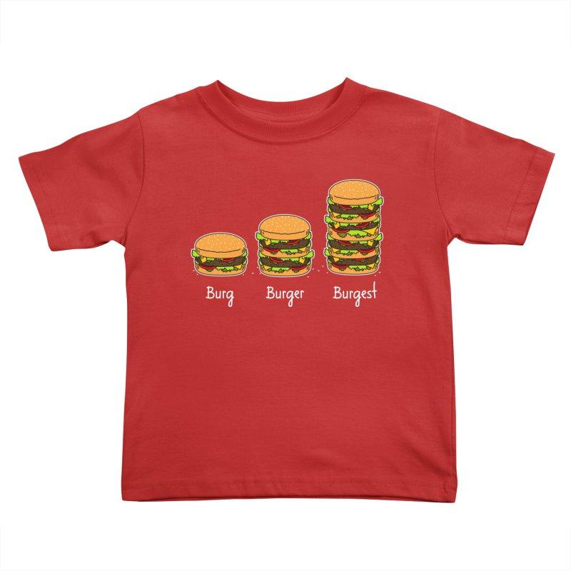 Burger explained. Burg. Burger. Burgest. Kids Toddler T-Shirt by shiningstar's Artist Shop