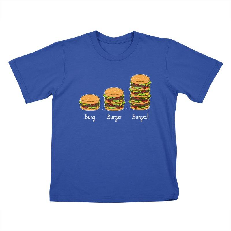 Burger explained. Burg. Burger. Burgest. Kids T-shirt by shiningstar's Artist Shop