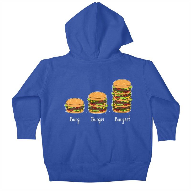 Burger explained. Burg. Burger. Burgest. Kids Baby Zip-Up Hoody by shiningstar's Artist Shop