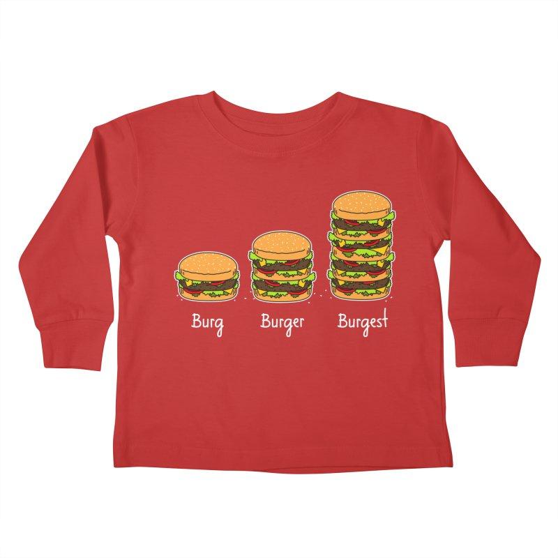 Burger explained. Burg. Burger. Burgest. Kids Toddler Longsleeve T-Shirt by shiningstar's Artist Shop
