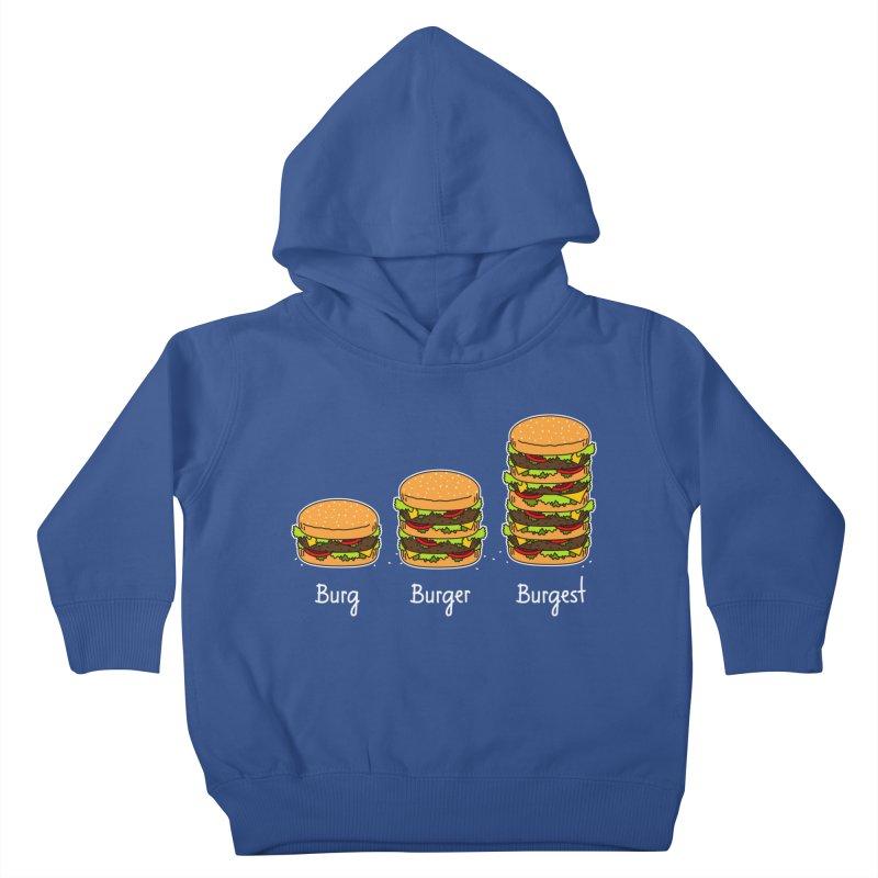 Burger explained. Burg. Burger. Burgest. Kids Toddler Pullover Hoody by shiningstar's Artist Shop
