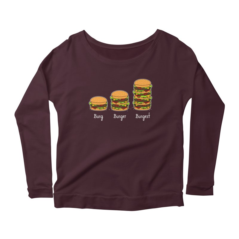 Burger explained. Burg. Burger. Burgest. Women's Longsleeve Scoopneck  by shiningstar's Artist Shop
