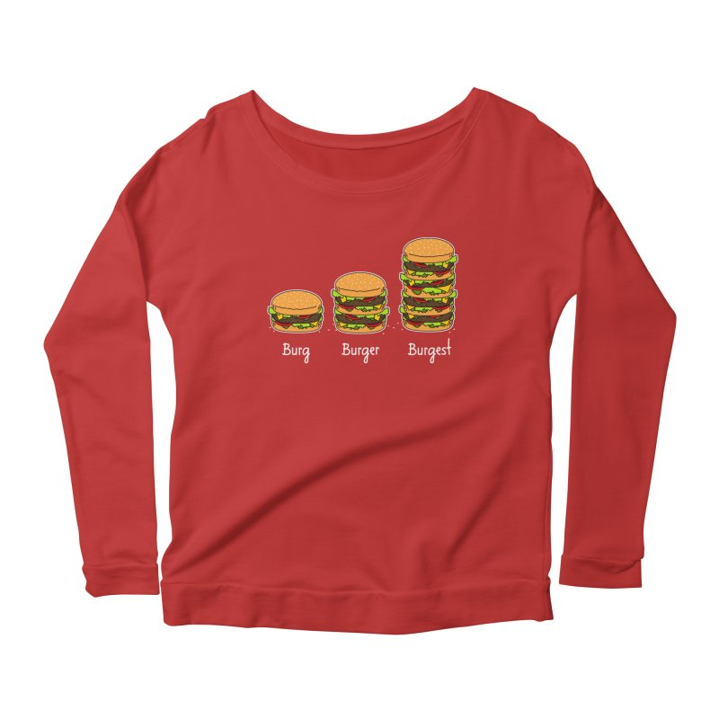 Burger explained. Burg. Burger. Burgest. Women's Longsleeve Scoopneck  by shiningstar's Artist Shop
